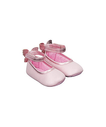 Mothercare Pink Butterfly Pram Shoes