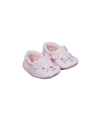 Mothercare Knitted Mouse Slippers