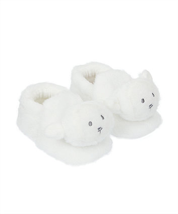 Mothercare Fluffy Sheep Slippers