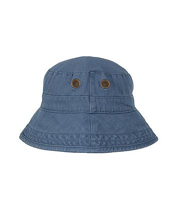 Mothercare Washed Eyelet Fisherman Hat