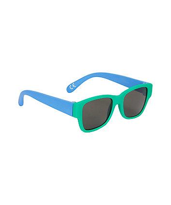 Green Frame Baby Sunglasses