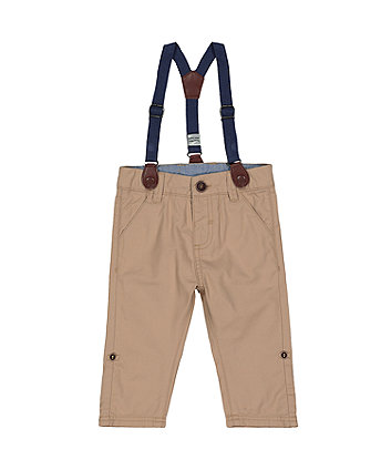 Stone Roll-Up Trousers