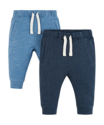 Mothercare Blue Joggers - 2 Pack