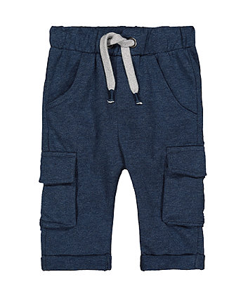 Navy Joggers With Pockets