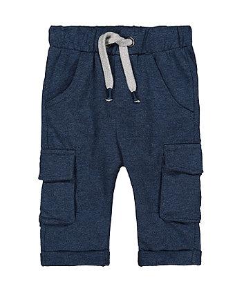 Navy Joggers With Pockets