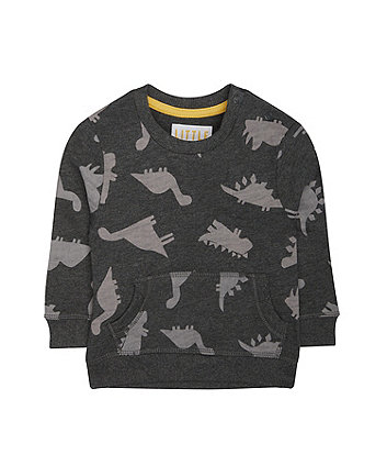 Mothercare Grey Roarsome Dinosaur Sweat Top