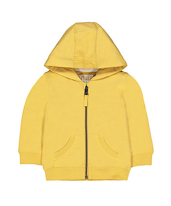 Yellow Hooded Sweat Top