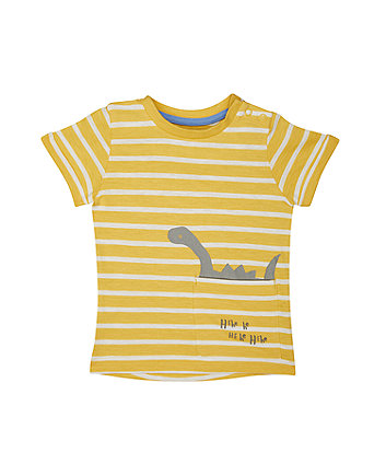 Mothercare Yellow Stripe Dino T-Shirt