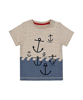 Striped Anchor T-Shirt