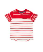 Mothercare Red And White Striped T-Shirt