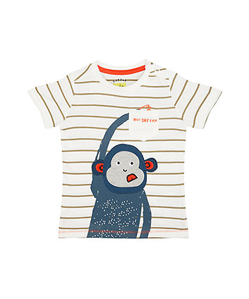Stripe Monkey T-Shirt