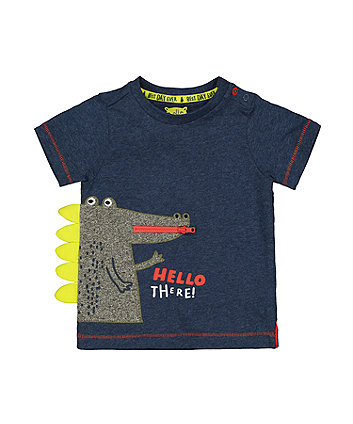 Hello There Crocodile Navy T-Shirt