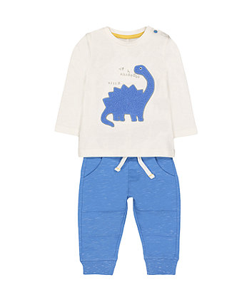 Mothercare Dinosaur T-Shirt And Jogger Set