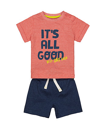 Mothercare It'S All Good T-Shirt And Shorts Set