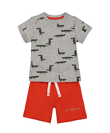 Crocodile Shorts And T-Shirt Set