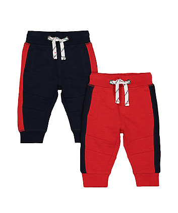 Mothercare Navy And Red Joggers
