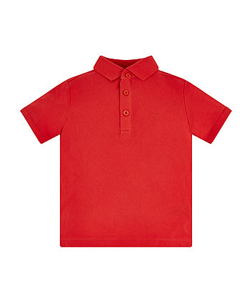 Mothercare Red Polo Shirt