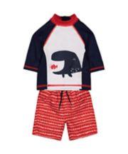 Whale Swim Shorts And Rash Vest