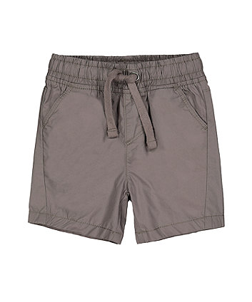 Mothercare Grey Poplin Shorts