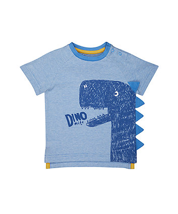 Mothercare Striped Dinosaur T-Shirt