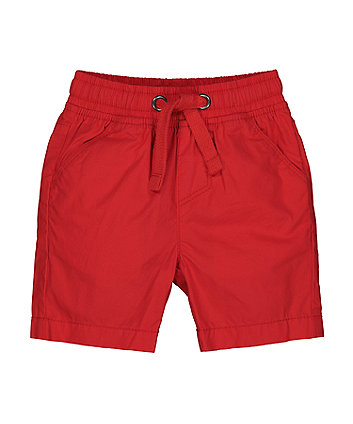 Mothercare Red Poplin Shorts