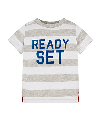 Mothercare Ready Set Go Striped T Shirt