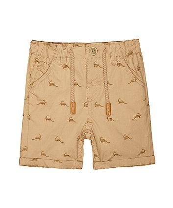 Dinosaur Stone Twill Shorts