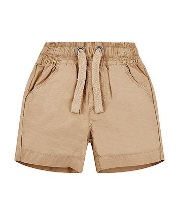 Stone Poplin Shorts