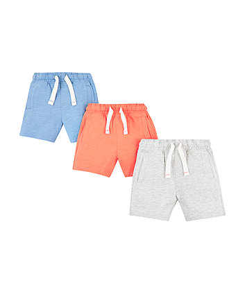 Mothercare Coral Shorts - 3 Pack