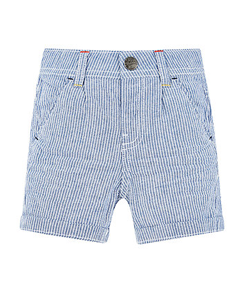 Blue Striped Chino Shorts