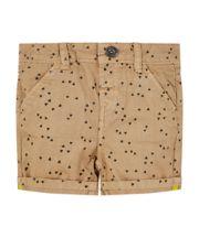 Tan Geometric Print Chino Shorts