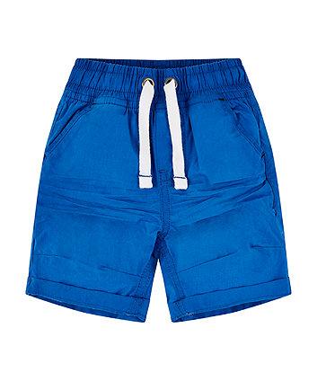 Blue Poplin Shorts