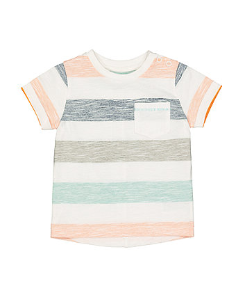 Block Striped Pocket T-Shirt
