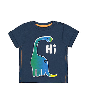 Mothercare Navy Hi Dinosaur T-Shirt
