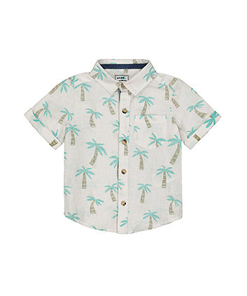 White Palm Tree Shirt