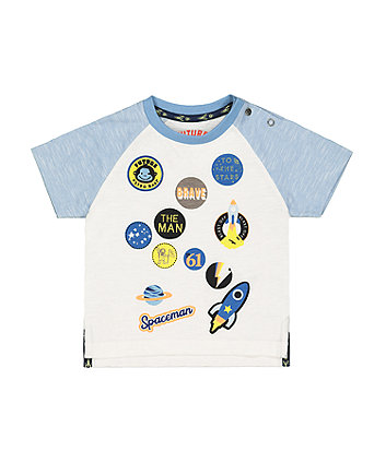 Mothercare Space Badge T-Shirt