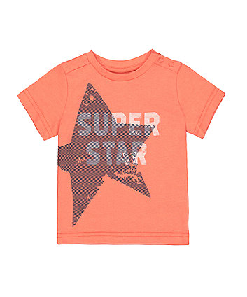 Mothercare Coral Super Star T-Shirt