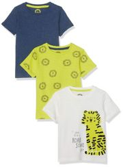 Tiger, Navy And Lion T-Shirts - 3 Pack