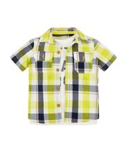 Check Shirt And Lion T-Shirt Set