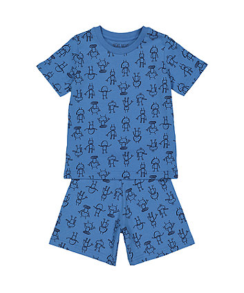 Blue Robot Shorties