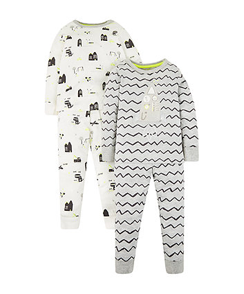 Mothercare Rocket Pyjamas - 2 Pack