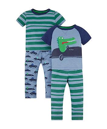 Croc In A Car Pyjamas - 2 Pack
