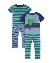 Croc In A Car Pyjamas - 2 Pack
