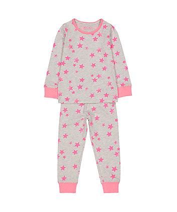 Mothercare Pink Neon Star Pyjamas