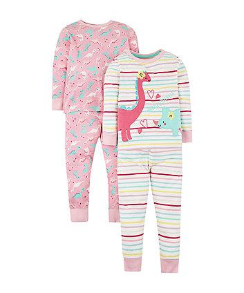 Mothercare Sleepysaurus Dinosaur Pyjamas - 2 Pack