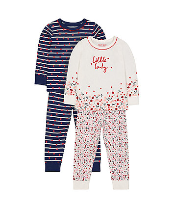 Mothercare Little Lady Pyjamas - 2 Pack