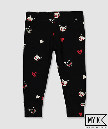 Mothercare My K Black Bunny Leggings