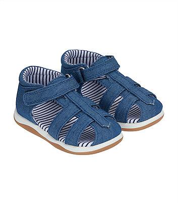 Mothercare First Walker Denim Sandals