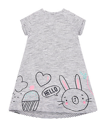 Mothercare Hello Bunny Stripe Dress