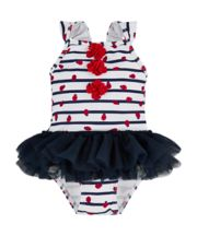 Ladybird Stripe Tutu Swimsuit